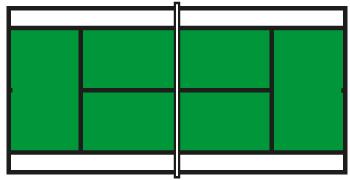 Tenniskids groene baan